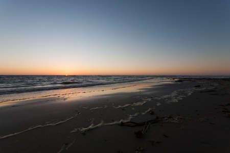 swakopmund: Namibian sunset at Swakopmund beach