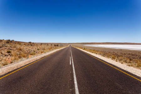 open space: A view from South Africa, along the road to Namibia Stock Photo
