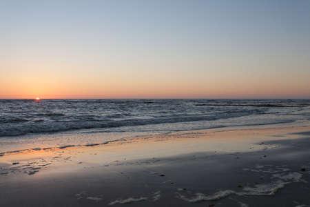 Namibian sunset at Swakopmund beach