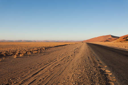 burchell: Panorama trought red dunes from Sesriem to Sossusvlei Namibia