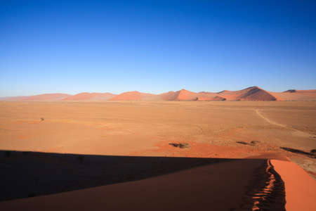 burchell: Red dunes on the road to Sossusvlei Namibia