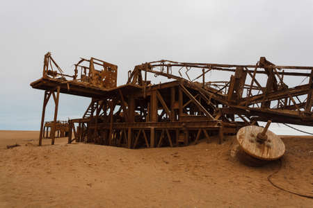 extraction: Old oil extraction station abandoned from Skeleton Coast Namibia