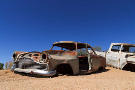 solitaire: Abandoned car from Solitaire Namibia