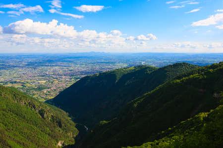 grappa: Mountain landscape from Monte grappa Italy Italian alps