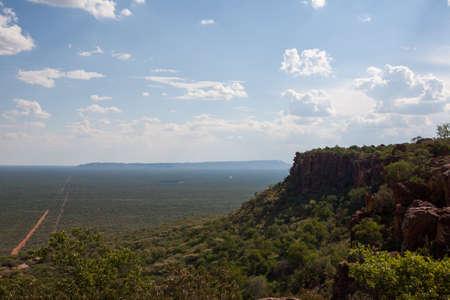 Panorama van Waterberg Nationaal Park Namibië Stockfoto