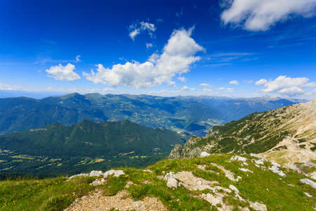 mugo: Panorama from Italian alps, top of a mountain, Cima Larici Asiago
