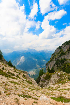 gully: Alpine gully on italian Alps, dolomite, trekking