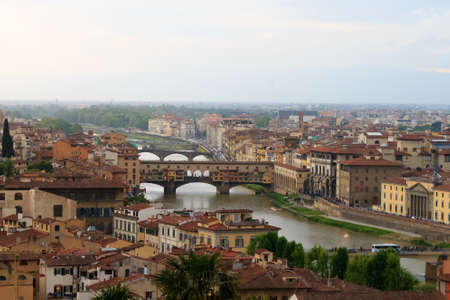 italian landscape: Florence panorama from Rose Garden, Italian landscape