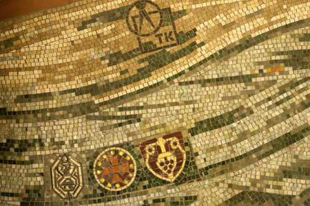 mosaic floor: Mosaic floor detail Stock Photo