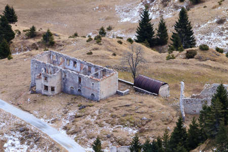 barracks: Abandoned military barracks from Monte Grappa,Italy.