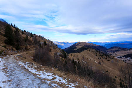 grappa: Winter panorama from Monte Grappa, Italy