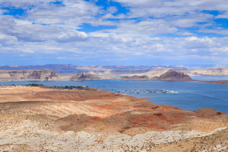open space: Panorama from Lake Powell, near Page, Arizona, USA. Open space landscape
