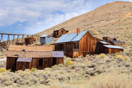 jalopy: View from Bodie Ghost Town, California USA. Old abandoned mine
