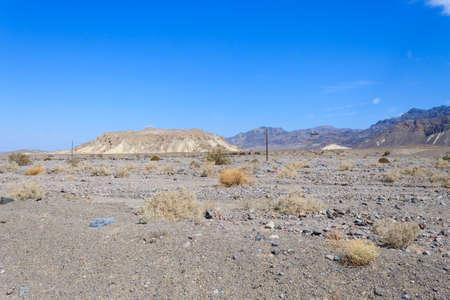 Panorama from Death Valley, California, USA. Desolate desert
