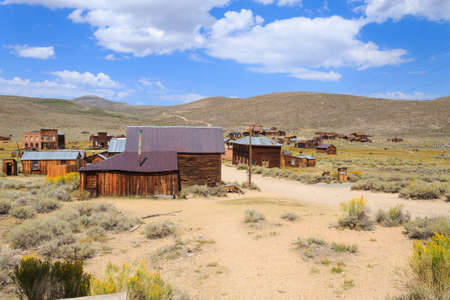 bodie: View from Bodie Ghost Town, California USA. Old abandoned mine