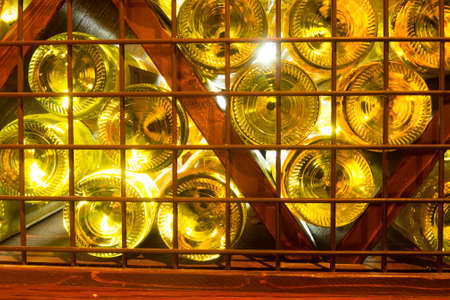 white wine: Wine bottles background. White wine from cellar.