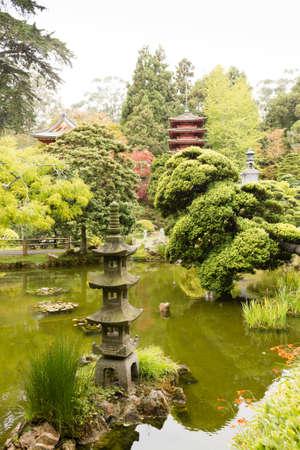 The Japanese Tea Garden in Golden Gate Park in San Francisco. Relaxing scenery