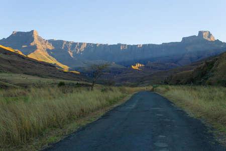 amphitheatre: South African landmark, Amphitheatre from Royal Natal National Park. Drakensberg mountains  landscape. Top peaks Editorial