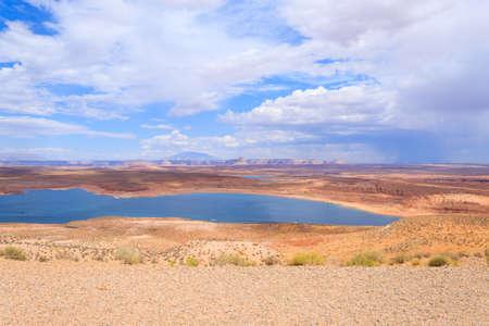 lake powell: Panorama from Lake Powell, near Page, Arizona, USA. Open space landscape