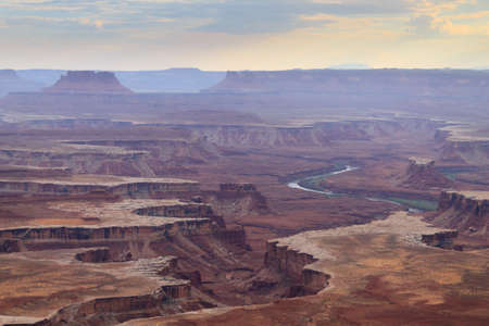moab: Green river overlook from Canyonlands National park, USA. Geological formations.