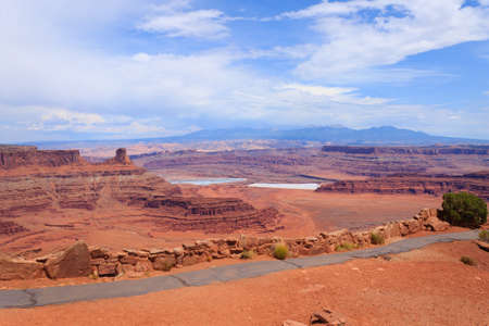moab: Colorado river canyon. Panorama from Utah. Red rocks. United States of America Stock Photo