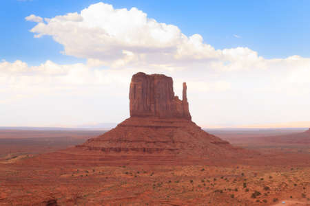 navajo land: Panorama with famous Buttes of Monument Valley from Arizona, USA. Red rocks landscape