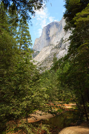 dome of the rock: Half Dome Rock , the Landmark of Yosemite National Park,California USA. Geological formations