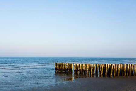 Italian coastline landscape, Boccasette beach view. Po river lagoon. Italian landmark Stock Photo