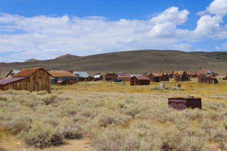 sierra nevada: View from Bodie Ghost Town, California USA. Old abandoned mine