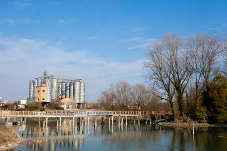 navigable: Industrial archeology along Sile river. Old abandoned factory. Italian landmark