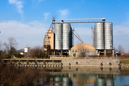 deteriorated: Industrial archeology along Sile river. Old abandoned factory. Italian landmark