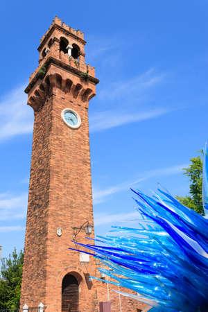Murano bell clock view, Venice, Italian landmark