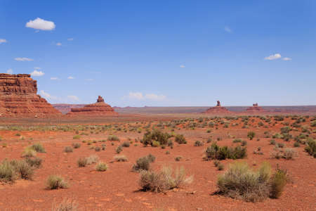 Valley of the Gods view from Utah,USA. Red rocks panorama. Butte and mesa