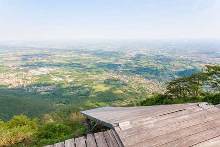 Paragliding platform view from above. Paragliding, extreme sports Stock Photo