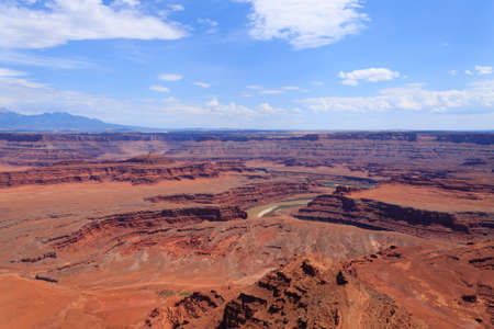Colorado river canyon. Panorama from Utah. Red rocks. United States of America Stock Photo