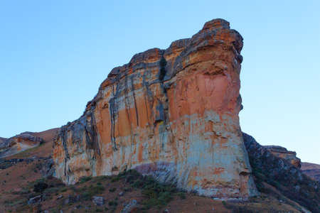 Brandwag Buttress day view from Golden Gate Highlands National Park, South Africa.