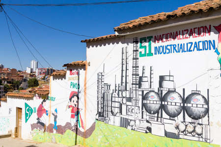 Street art from Sucre, Bolivia. Bolivian town