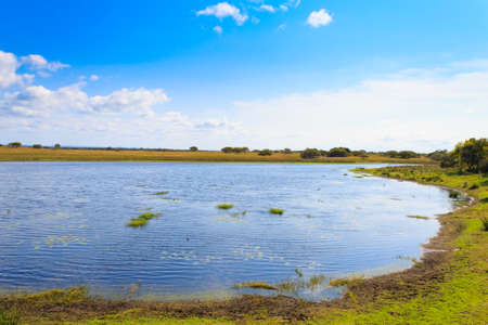 Isimangaliso Wetland Park landscape, South Africa. Beautiful panorama from Africa. Safari and outdoor