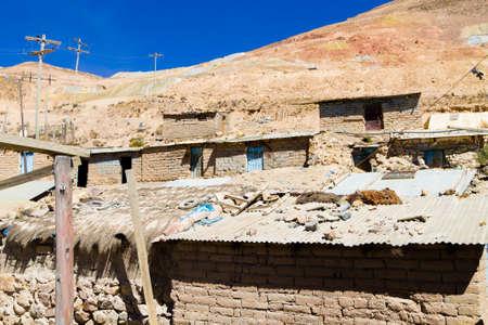 Potosi miner houses view,Bolivia. Bolivian mining city Stock Photo