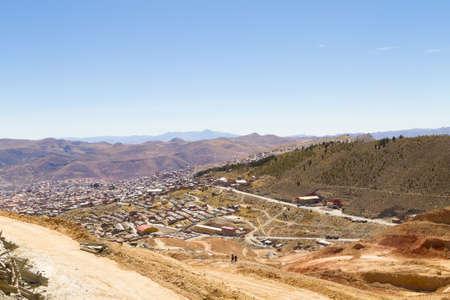 Potosi aerial view,Bolivia.Bolivian mining city