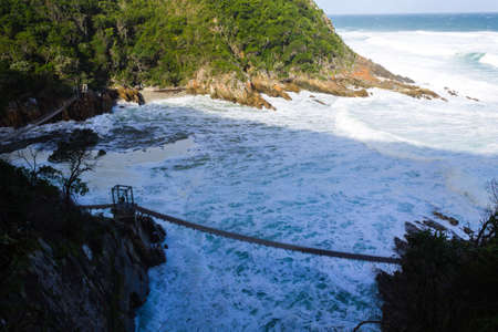Landscape from Tsitsikamma National Park, Garden Route, South Africa. Indian ocean view.