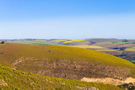 South african landscape along the road from Karoo to Franschhoek. African wilderness Reklamní fotografie