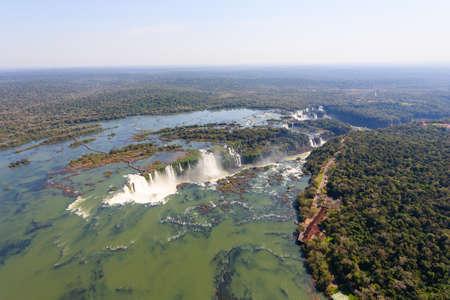 Helicopter view from Iguazu Falls National Park, Argentina. South America Adventure travel Reklamní fotografie
