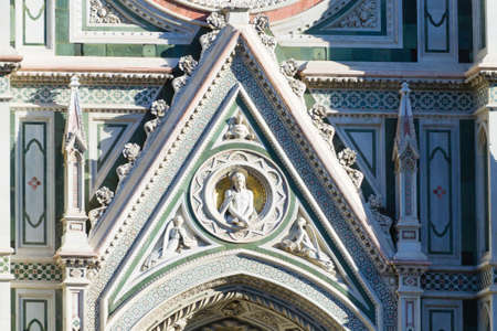 Detail of Florence Cathedral and Giottos bell tower, Italian panorama. Tuscany landmark Redakční