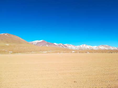 Bolivian mountains landscape,Bolivia. Andean plateau view. Dirt road