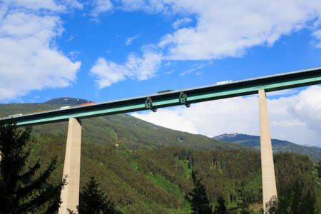 Europa Bridge near Innsbruck. Highest bridge in Europe