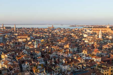 Aerial view of Venice at dawn, Italy. Italian landscape Reklamní fotografie