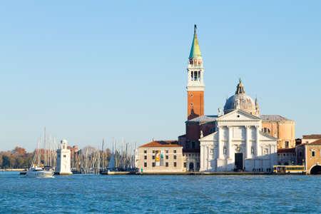Basilica di San Giorgio Maggiore, Venice, Italy. Saint Mary of Health church. Venetian landmark