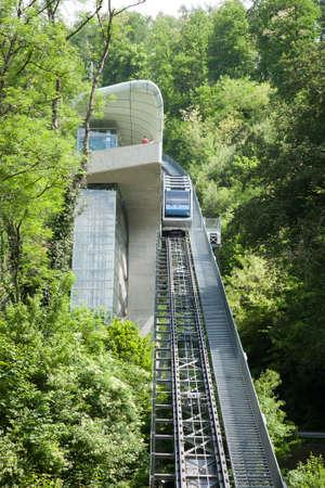Innsbruck monorail view. Urban mobility, Austria
