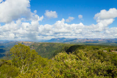 Blyde River Canyon panorama from Gods window viewpoint. Mpumalanga region landscape, South Africa Reklamní fotografie